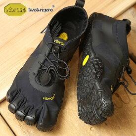 【9/19 14時までポイント10倍】ビブラムファイブフィンガーズ メンズ Vibram FiveFingers オールラウンド アウトドア 5本指シューズ V-ALPHA ベアフット 靴 Black (18M7101 SS18)【コンビニ受取対応商品】