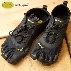 【ショップポイント10倍!1/31まで】ビブラムファイブフィンガーズ レディース Vibram FiveFingers オールラウンド アウトドア 5本指シューズ V-ALPHA ベアフット 靴 Black (18W7101 SS18)【コンビニ受取対応商品】