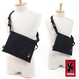 CHROME クローム ショルダーバッグ MINI SHOULDER BAG ミニショルダーバッグ サコッシュ BLACK/BLACK (BG-245 SS18)