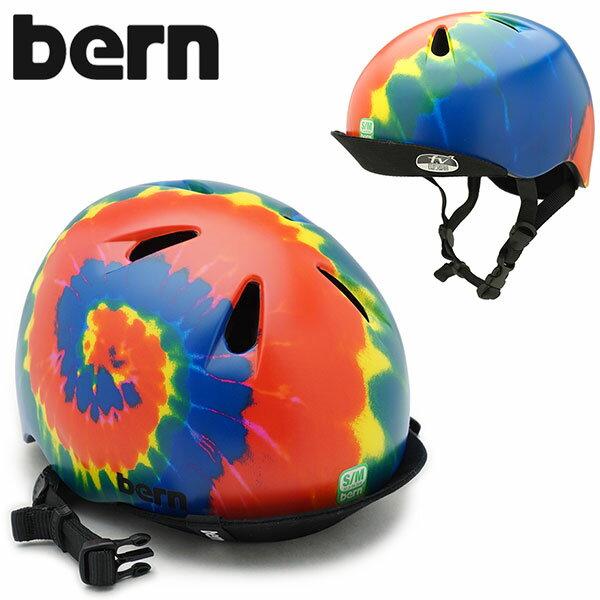 【即納】【日本限定カラー】bern バーン ヘルメット Kids キッズ ジュニア 子供 NINO ニノ タイダイ (BE-VJBTD1-11 SS18)【コンビニ受取対応商品】