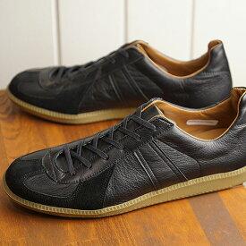リプロダクション オブ ファウンド REPRODUCTION OF FOUND ジャーマン ミリタリー トレーナー GERMAN MILITARY TRAINER メンズ レディース ジャーマントレーナー スニーカー 靴 BLACK (1700L SS19)