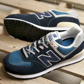 ニューバランス newbalance ML574 ESS メンズ レディース スニーカー 靴 DARK NAVY ネイビー系 (ML574ESS SS19)