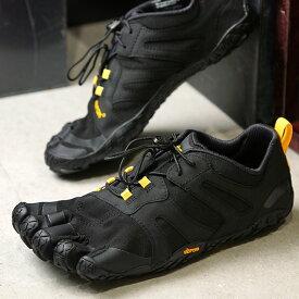 【ショップポイント10倍!1/31まで】ビブラムファイブフィンガーズ Vibram FiveFingers メンズ Vトレイル2.0 M V-Trail 2.0 5本指 トレイルランニングシューズ トレラン Black/Yellow ブラック系 (19M7601 SS19)