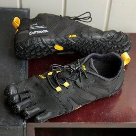 【ショップポイント10倍!1/31まで】ビブラムファイブフィンガーズ Vibram FiveFingers レディース Vトレイル2.0 W V-Trail 2.0 5本指 トレイルランニングシューズ トレラン Black/Yellow ブラック系 (19W7601 SS19)