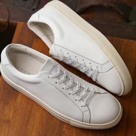 【月間優良ショップ受賞】【サイズ交換片道送料無料】ヨーク YOAK メンズ スタンレー STANLEY レザースニーカー 日本製 靴 WHITE ホワイト系 ( SS19)