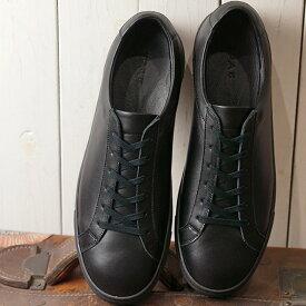 【月間優良ショップ受賞】【サイズ交換片道送料無料】ヨーク YOAK メンズ スタンレー STANLEY レザースニーカー 日本製 靴 BLACK ブラック系 ( SS19)