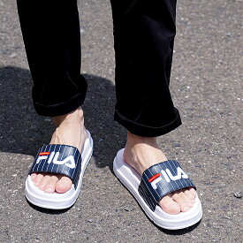 フィラ FILA ドリフター ジャッキアップ ストライプ DRIFTER JACKED STRIPE メンズ・レディース 厚底 ストラップサンダル 靴 Fネイビー (F0372-2092 SU19)【ts】【e】