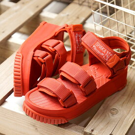 SHAKA シャカ サンダル ネオ バンジー プラットフォーム NEO BUNGY PLATFORM メンズ・レディース 厚底 ストラップ アウトドア 靴 BRICK レッド系 (SK433105 SS19)【ts】【e】