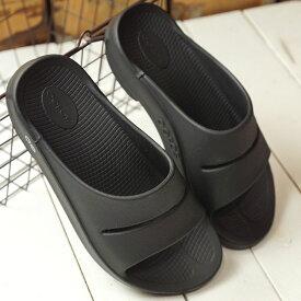 【即納】ウーフォス OOFOS ウーアー Ooahh メンズ レディース ランニング スライドサンダル リカバリーサンダル 靴 Black ブラック系 (5020020 SS19)