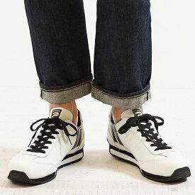 【あす楽対応】【返品送料無料】【限定復刻モデル】パトリック PATRICK マラソン・レザー MARATHON-L メンズ レディース スニーカー 日本製 靴 W/B ホワイト系 (98900)