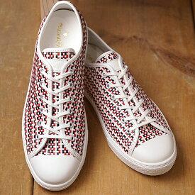 コンバース CONVERSE オールスター クップ ウーブン ローカット ALL STAR COUPE WOVEN OX メンズ レディース スニーカー 靴 WHITE/NAVY/RED マルチカラー (31300020 SU19)【ts】
