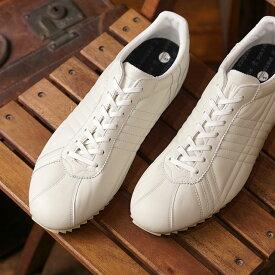 【返品送料無料】パトリック PATRICK 日本製 シュリー・ウォータープルーフ SULLY-WP メンズ レディース 防水レザー スニーカー 靴 WHT ホワイト系 (530970 SS19)
