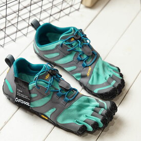 ビブラムファイブフィンガーズ Vibram FiveFingers 5本指シューズ トレイルランニング用 V-Trail 2.0 (19W7603 SS20) レディース ベアフットスニーカー 靴 Blue/Green グリーン系