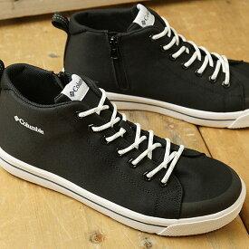 コロンビア Columbia 防水スニーカー ホーソンレイン2 ウォータープルーフ HAWTHORNE RAIN II WATERPROOF (YU0316-010 SS20) メンズ・レディース ハイカット レインシューズ 靴 Black ブラック系