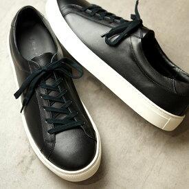 【月間優良ショップ受賞】【サイズ交換片道送料無料】ヨーク YOAK 国産スニーカー スタンレー STANLEY ( SS20) メンズ 日本製 レザーシューズ 靴 BLACK2 ブラック系