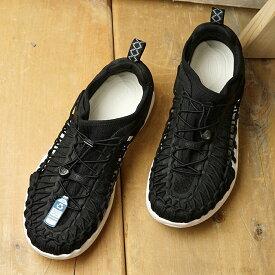 【サイズ交換片道送料無料】【限定】KEEN キーン スニーカー ユニーク スニーク M UNEEK SNK (1023139 SS20) メンズ アウトドアシューズ 靴 Black/Star White ブラック系