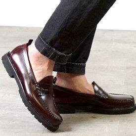 【楽天カードで12倍】【コラボ】フレッドペリー FRED PERRY ローファー GHバス ペニーローファー FP×G.H.BASS PENNY LOAFER [SB8070-158 SU20] メンズ・レディース 革靴 OXBLOOD バーガンディー系