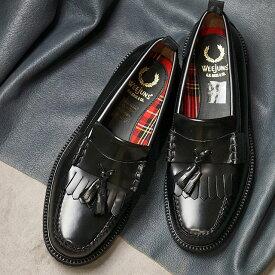 【楽天カードで12倍】【コラボ】フレッドペリー FRED PERRY ローファー GHバス タッセルローファー FP×G.H.BASS TASSEL LOAFER [SB8071-102 SU20] メンズ・レディース 革靴 BLACK ブラック系