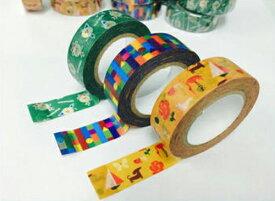 サクラクレパス柄マスキングテープ クレパス柄・クーピー柄・クレヨン柄の3個セット カモ井加工紙製造