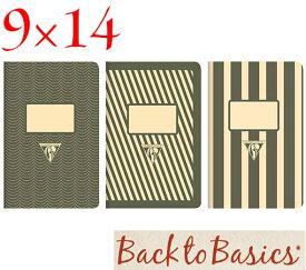 ☆クレールフォンテーヌ(Clairefontaine)☆Back to Basics 1951 LINE★1951 復刻ノート ライン 9x14/ブラック(3柄8冊アソート)★【RCP】