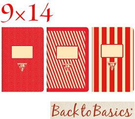 ☆クレールフォンテーヌ(Clairefontaine)☆Back to Basics 1951 LINE★1951 復刻ノート ライン 9x14/レッド(3柄8冊アソート)★【RCP】