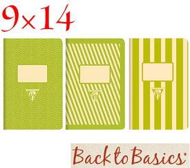 ☆クレールフォンテーヌ(Clairefontaine)☆Back to Basics 1951 LINE★1951 復刻ノート ライン 9x14/グリーン(3柄8冊アソート)★【RCP】