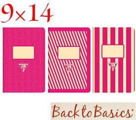 ☆クレールフォンテーヌ(Clairefontaine)☆Back to Basics 1951 LINE★1951 復刻ノート ライン 9x14/ピンク(3柄8冊アソート)★【RCP】
