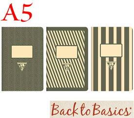 ☆クレールフォンテーヌ(Clairefontaine)☆Back to Basics 1951 LINE★1951 復刻ノート ライン  A5/ブラック(3柄6冊アソート)★【RCP】