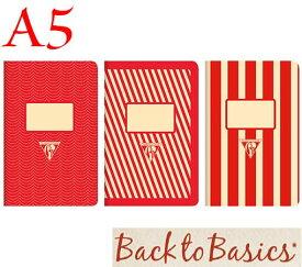 ☆クレールフォンテーヌ(Clairefontaine)☆Back to Basics 1951 LINE★1951 復刻ノート ライン  A5/レッド(3柄6冊アソート)★【RCP】