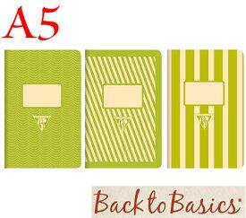 ☆クレールフォンテーヌ(Clairefontaine)☆Back to Basics 1951 LINE★1951 復刻ノート ライン  A5/グリーン(3柄6冊アソート)★【RCP】