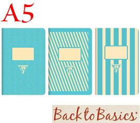 ☆クレールフォンテーヌ(Clairefontaine)☆Back to Basics 1951 LINE★1951 復刻ノート ライン  A5/ライトブルー(3柄6冊アソート)★【RCP】