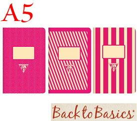 ☆クレールフォンテーヌ(Clairefontaine)☆Back to Basics 1951 LINE★1951 復刻ノート ライン  A5/ピンク(3柄6冊アソート)★【RCP】