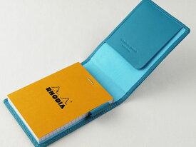 ノワール RHODIA メモカバー#11 クローム鞣し革「ノワール」でつくったブロックロディア用カバー スリップオン NSL-2808