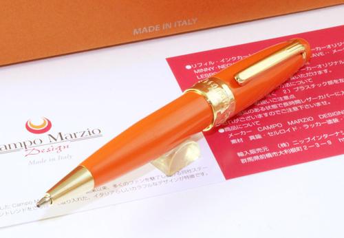 ★Campo Marzio Design/カンポマルツィオ/Minny ボールペン!オレンジ★【RCP】