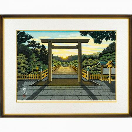 井堂雅夫 木版画53版62度摺『夜明け』【木版画・絵画】【通販・販売】