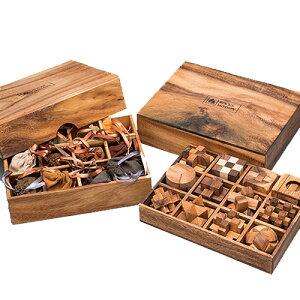『 ウッドパズル&知恵の輪 』コレクション 24点セット 木製 無垢 脳トレ ゲーム ちえのわ 玩具 大人 頭脳 ホビー 通販 販売