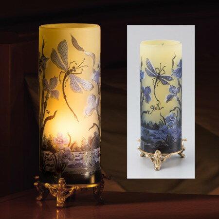エミール・ガレ『水辺の蜻蛉』筒型ランプ【ガレ・ランプ】【通販・販売】