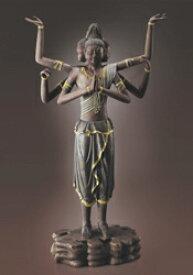 総手彫り古色仕上げ『阿修羅像』黄賢富 天然楠【仏像・天平の美少年】【通販・販売】