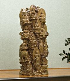 仏像 木 彫刻 『 十三仏 』緑檀 高さ63cm 全宗派 仏教彫刻家 李建敏 和室 洋室 通販 販売