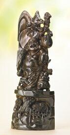 緑檀 一本彫 彫刻 『 満福 布袋 』 高さ80cm 仏教彫刻家 李建敏 商売繁盛 七福神 和室 床の間 通販 販売