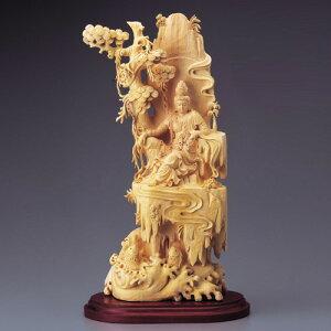 黄楊一木彫り『自在観音』【木彫・仏像】【通販・販売】