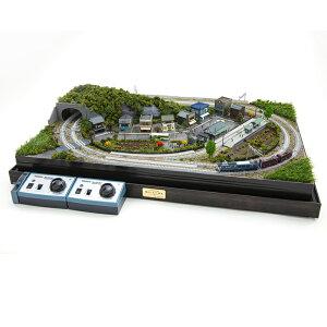鉄道模型 Nゲージ 鉄道ジオラマ EF64形 ワム480000形 複線仕様 ポイント切り替え可能 『昭和 ふるさと鉄道 』 インテリア 通販 販売 プレゼント