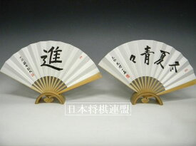 王位 木村一基扇子「冬夏青々」七段 藤井聡太扇子「進」2本セット