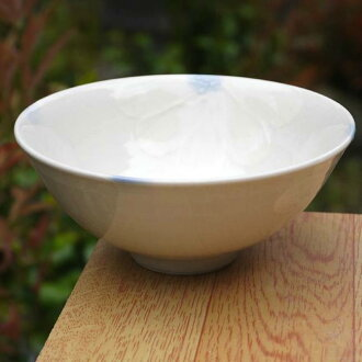 Shimizu ware flowers slowly carried rice bowl white