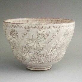 京焼 清水焼 捻花紋抹茶茶碗 陶楽