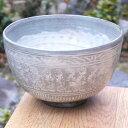 京焼 清水焼 三島手抹茶茶碗 花月