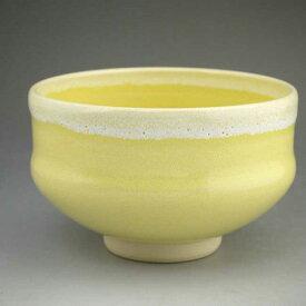 京焼 清水焼 黄釉抹茶茶碗 林山