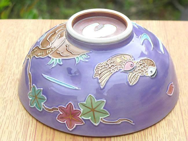 京焼 清水焼 おしどり雲錦ご飯茶碗 昇峰 大