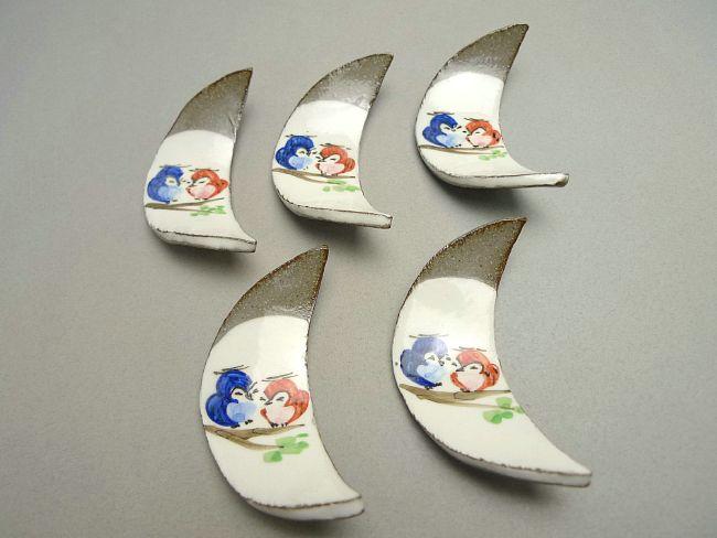 京焼 清水焼 粉引ふくろう箸置きセット