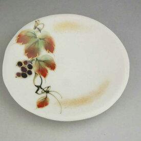京焼 清水焼 四季の花3寸皿 山葡萄単品